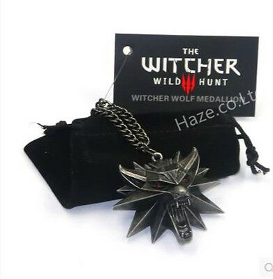 The Witcher 3 III Wild Hunt Wolf Medallion - Geralt of Rivias Necklace OFFICIAL!