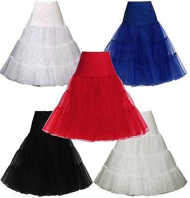 "26"" Long Tutu Retro Underskirt 50s Swing Vintage Petticoat Net Skirt Rockabilly"