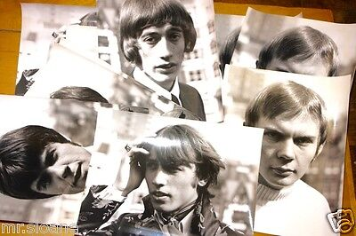 BEE GEES 14 ORIGINAL1960s NEWSPAPER PUBLICITY PRESS PHOTOS SOLO INDIVIDUAL SHOTS