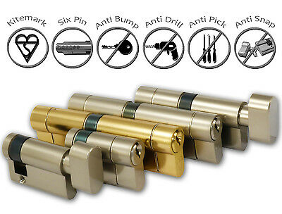 Euro Cylinder Lock - Anti Snap - High Security