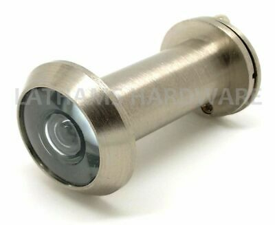 Brushed Nickel Door Viewer, Spy Hole, GLASS LENS, 180°, Highest Quality