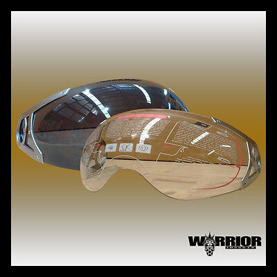 New Visor for DVS full face & open face motorcycle road helmet, clear and tinted