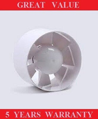 "In Line Bathroom Extractor Fan 100/4"" Silent Air Ventilation Ducting"