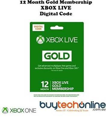 XBOX LIVE 12 Month Gold Membership Subscription Code. Fast Dispatch. of Code