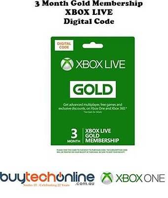 XBOX LIVE 3 Month Gold Membership Subscription Code