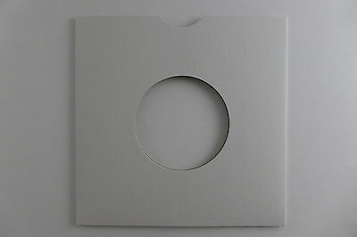 """50 x 7"""" White Card Masterbags/ Record Sleeves/ Covers. Free P&P"""