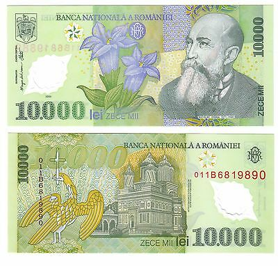 Romania 10,000 Lei Polymer Banknote - P112 - Uncirculated