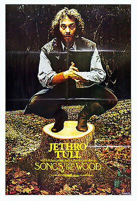 """Jethro Tull Poster Songs From The Wood 1977 Album Promo Vintage 23"""" x 35"""""""