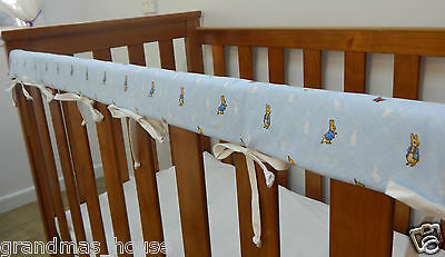 Peter Rabbit Blue Cot Rail Cover Crib Teething Pad x 1