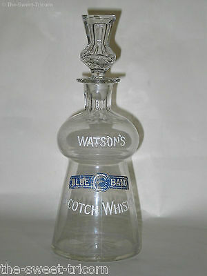 RARE Glass Decanter for Watsons Blue Band Scotch Whisky (Watson's, Whiskey)
