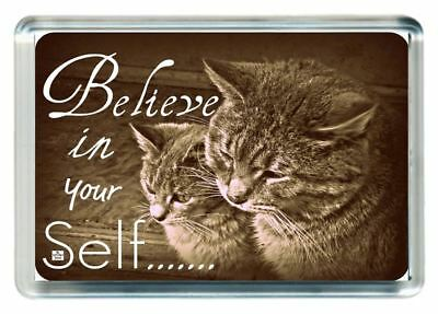 Parent Child Dad Son Teach Believe In Yourself Life Lesson Saying Fridge Magnet
