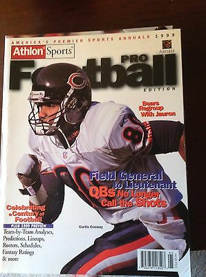 1999 Athlon Sports Pro Football Yearbook Curtis Conway Chicago Bears Magazine