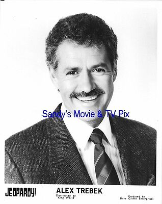 ALEX TREBEK Fantastic ORIGINAL TV Photo JEOPARDY