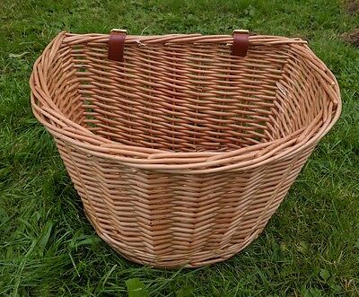 WICKER BICYCLE SHOPPING BASKET BIKE/CYCLE HANDLEBAR 37CM wide