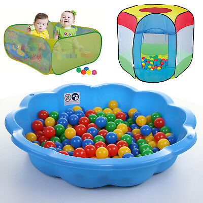 Sand Pit Ball Pit Paddling Pool Outdoor Play Area Shell Childrens Play Tent Zone