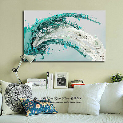 Splash Abstract Pattern Stretched Canvas Print Framed Wall Art Home Decor Gift