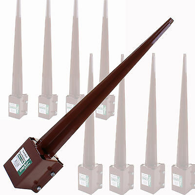 "3"" And 4"" Fence Spikes Like Metpost Bolt Grip Support Fence Post Holder"