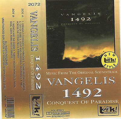 VANGELIS 1492 Conquest of Paradise OST MC Tape MUSIKKASSETTE