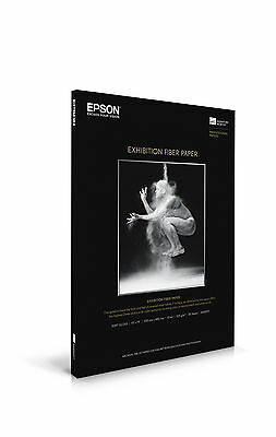 "Epson Exhibition Fiber Glossy Inkjet Photo Paper 13"" x 19"" 25 Sheets S045037"