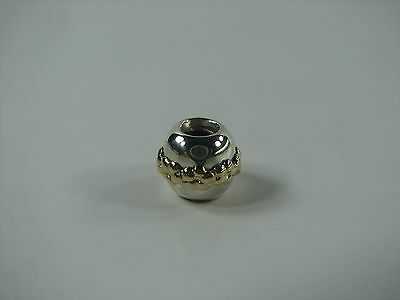 Authentic Pandora 790179 14K Gold & Sterling Silver 925 Saturn Flower Bead Charm