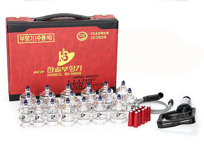 19p Chinese Cupping Vacuum Massage Set Medical Therapy Diet Health Acupuncture I