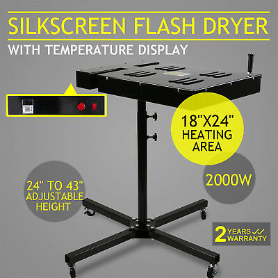 "18"" X 24"" Silkscreen Flash Dryer Curing Screen Printing Adjustable Electrical"