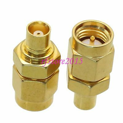 1pce Adapter Connector MCX female jack to SMA male plug for Antenna Router