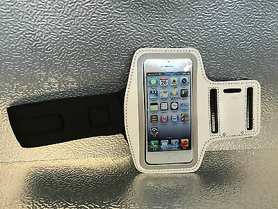 Jogging Running GYM Sport Armband Holder Arm Strap Pouch Case For iPhone 5 White