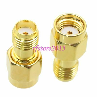 1pce Adapter Connector RP-SMA male jack to SMA female jack for Wifi Antennas