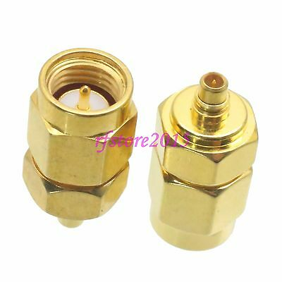 1pce Adapter Connector SMA male plug to MMCX male plug straight for Wireless