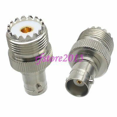 1pce Adapter Connector UHF SO239 female jack to BNC female jack for Radio