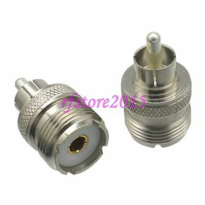 1pce Adapter Connector UHF SO239 female jack to RCA TV male plug for Radio