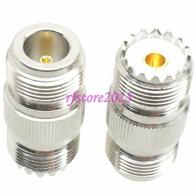 1pce Adapter Connector UHF SO239 female to N female jack for Vehicle antenna