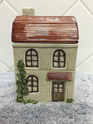 Otagiri House Cookie Candy Jar Handpainted 1980