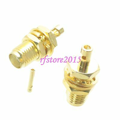 1pce Connector SMA female jack bulkhead solder RG178 RG196 RF COAXIAL overall