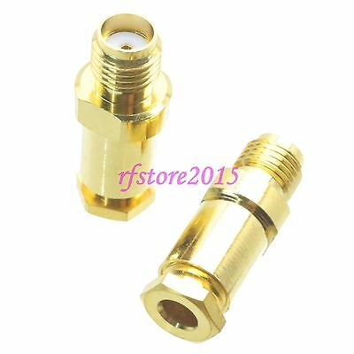 1pce Connector SMA female jack clamp RG316 RG174 LMR100 RF COAXIAL Straight