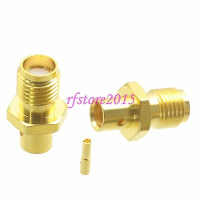 """1pce Connector SMA female jack solder RG402 0.141"""" cable RF COAXIAL Straight"""