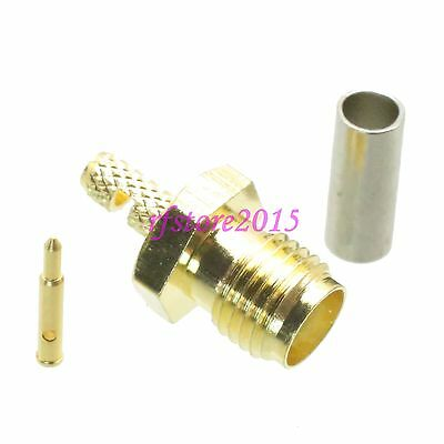 1pce Connector RP-SMA female plug crimp RG316 RG174 LMR100 RF COAXIAL Straight