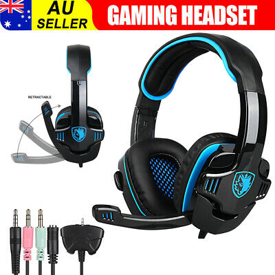 Sades 708GT 3.5mm Pro Gaming Headset Headphone w/Mic For PC PS4 XBOX ONE/360
