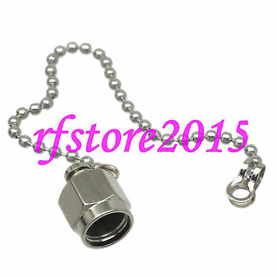 1pce Connector Dust Cap with Chain for SMA female straight RF COAXIAL