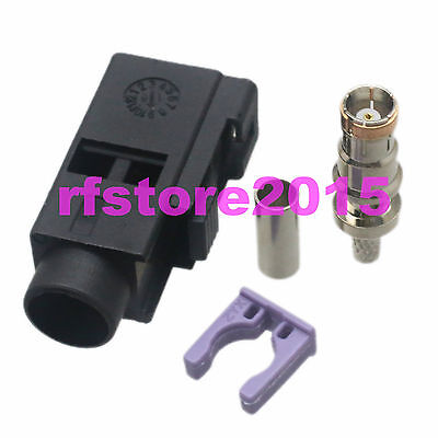 1pce Connector Fakra SMB A 9005 female jack crimp RG316 RG174 LMR100 RF COAXIAL
