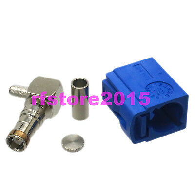 1pce Connector Fakra SMB C 5005 female 90° crimp RG316 RG174 LMR100 RF COAXIAL