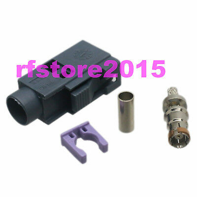 1pce Connector Fakra SMB G 7031 female jack crimp RG316 RG174 LMR100 RF COAXIAL