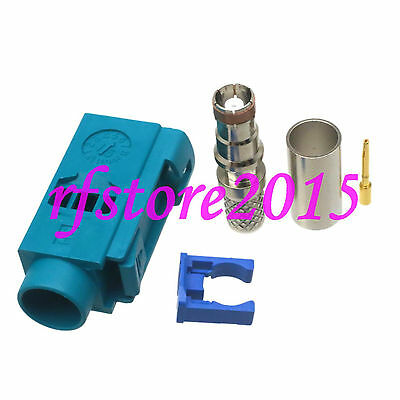 1pce Connector Fakra SMB Z 5021 female crimp RG58 RG142 LMR195 RG400 RF COAXIAL