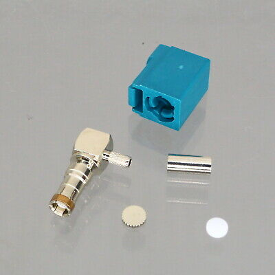 1pce Connector Fakra SMB Z 5021 female jack 90° crimp RG316 RG174 LMR100 COAXIAL