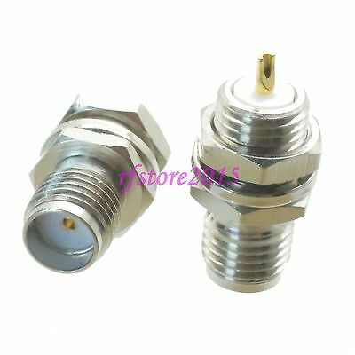 1pce Connector SMA female jack bulkhead solder Panel mount PTFE COAXIAL Nickel