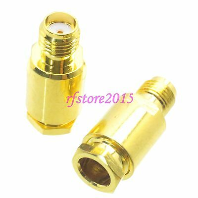 1pce Connector SMA female jack clamp RG58 RG142 LMR195 RG400 RF COAXIAL straight