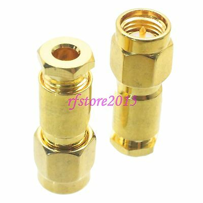 1pce Connector SMA male plug clamp RG316 RG174 LMR100 RF COAXIAL Straight