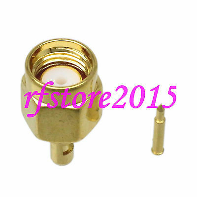 1pce Connector SMA male plug solder RG178 RG196 RF COAXIAL Straight