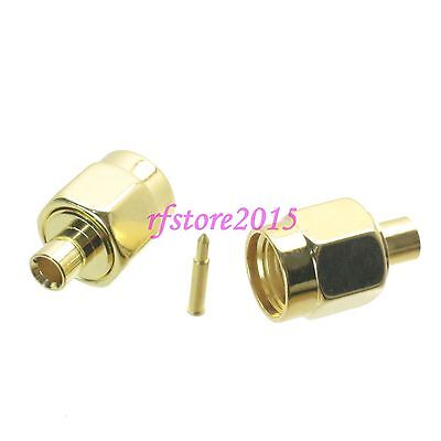 """1pce Connector SMA male plug solder RG405 0.086"""" cable RF COAXIAL straight"""